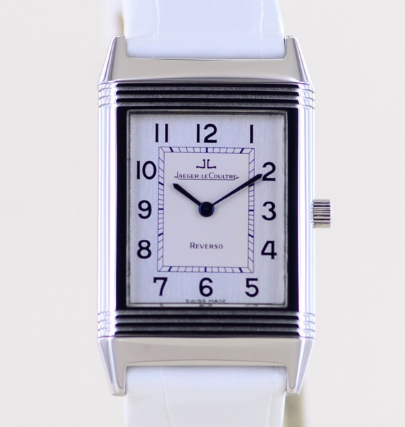 Reverso Classique Unisex Stahl Dresswatch Medium Lederband Faltschließe