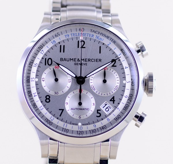 Capeland Stahl Chronograph silver Dial 44mm Stahlband Automatic sportlich