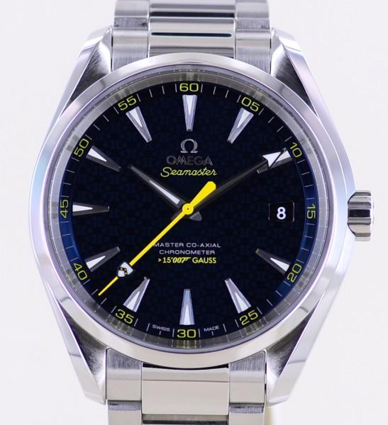 Seamaster Aqua Terra James Bond 007 limited edition Spectre blue 15007 Gauss-Copy