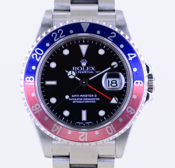 GMT Master II 16710T Pepsi Oysterband D-Serie SEL Closed Lugs Box