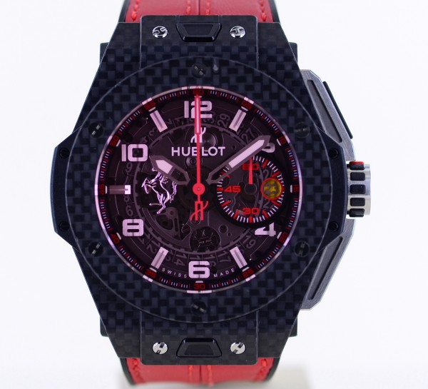 Big Bang Ferrari Unico Flyback Chronograph 44mm Carbon Limited Edition red Magic