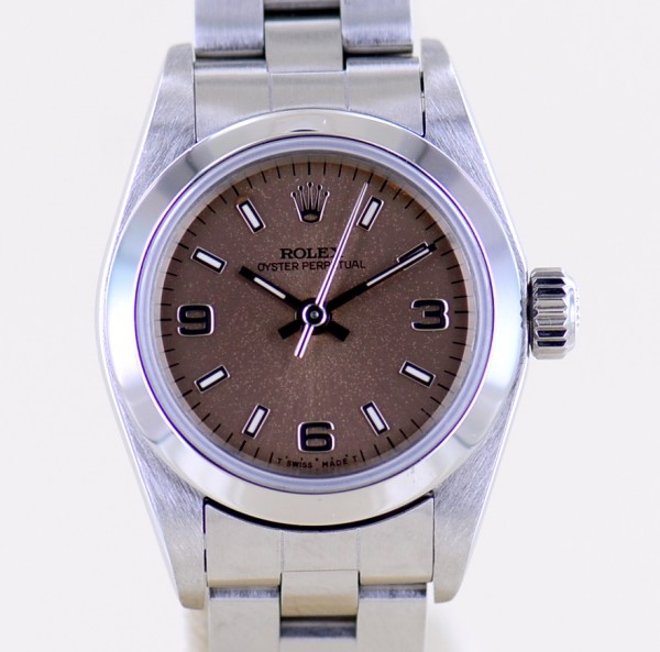 Oyster Perpetual 25 mm Oysterband 67180 salmon Dial No Date 1994 B+P