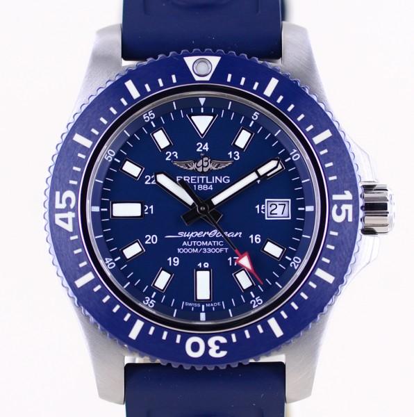 Superocean II Automatic Stahl blue Diver 44mm B+P Kautschuk Keramik