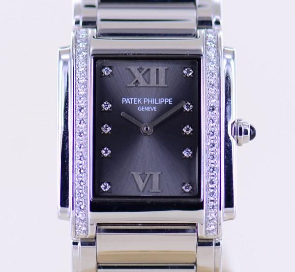 Twenty 4 Four 4910 Stahl Diamond Lady Klassiker Quartz Steel grey Dial