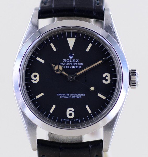 Explorer 36mm 1016 black matte dial 1969 Stahl Tritium Klassiker Top
