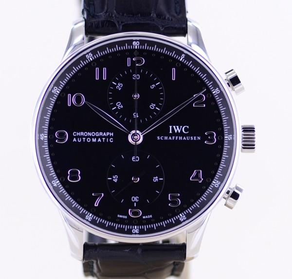 Portugieser Chronograph Automatik 41mm black Dial Dornschließe Dresswatch B+P