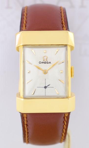 Omega 18K Top Hat Handwind Florentine Lugs Klassiker Dresswatch 60er