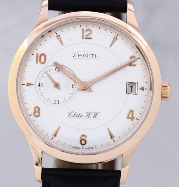 Zenith Class Elite 37 Gold 18K Klassiker Hadn Wind Date Dresswatch
