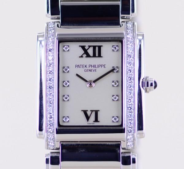 Twenty 4 Four 4910 Stahl Diamond Lady Klassiker Quartz Steel silver Dial B+P