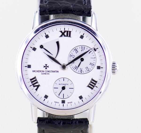 Patrimony Power Reserve Zeigerdatum 18K White Gold Automatic 47200 Dresswatch