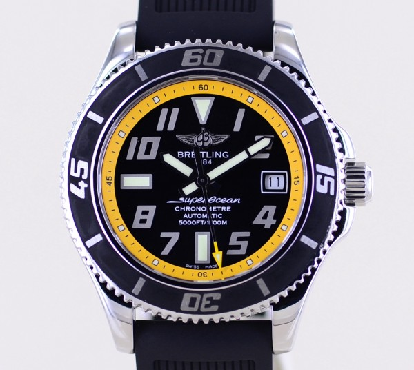 Superocean Abyss 1500M Automatic Stahl Yellow Diver 42mm Taucheruhr B+P