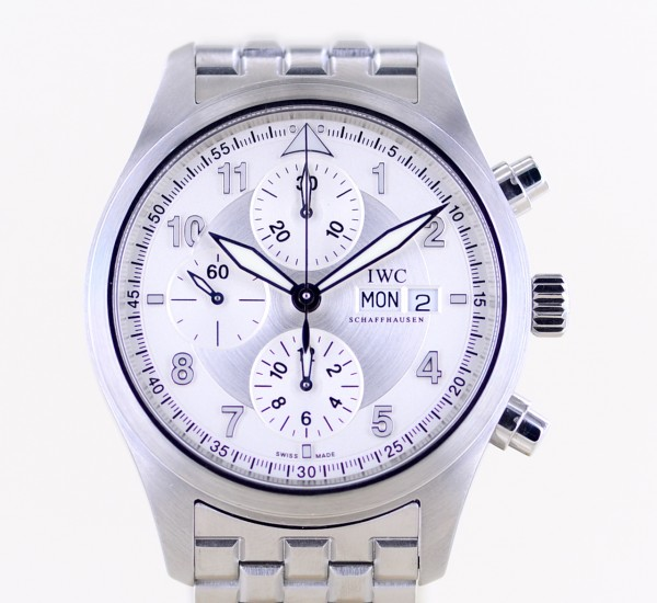 Spitfire Chronograph Pilots Automatic Stahlband silver Fliegeruhr