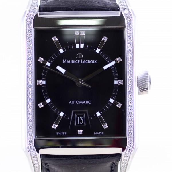 Pontos Automatic Stahl Top Damenuhr Diamond Dial Gehäuse B+P black wie NEU