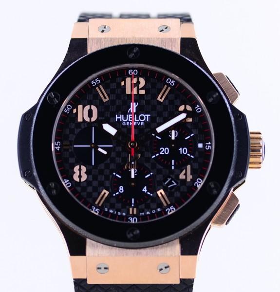 Big Bang Chronograph 44mm 18K Roségold Keramik Carbon Dial Rubber Luxury