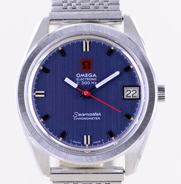 Omega Seamaster Electronic Chronometer f300 HZ 198.001 blue Dial