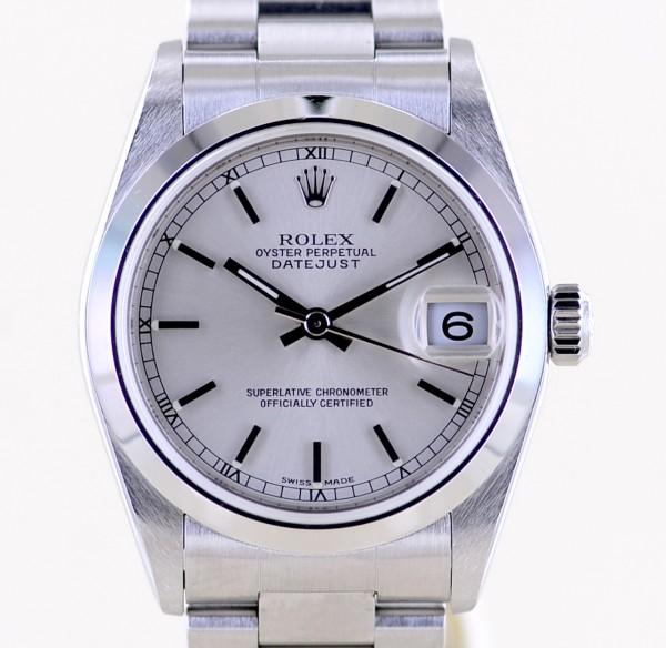 Rolex Medium Datejust silver dial Oysterband 31mm Lady Klassiker
