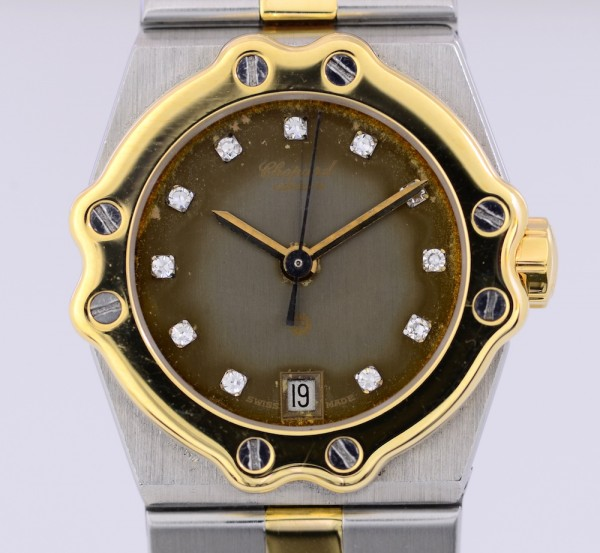 Chopard St. Moritz Lady Gold/Stahl Diamonds 18K Gelbgoldlünette Luxusuhr