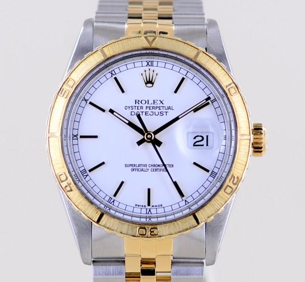 Datejust Turn-O-Graph white Dial Jubiléband Stahl Gold 16253 1982 rar