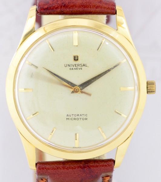 Universal Geneve 18K Gelbgold Microrotor Cal. 215 Top Sammler Dresswatch Automatic