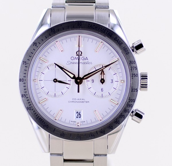 Speedmaster 57 Co-Axial Chronometer Chronograph 41,5mm Stahl White Dial B+P 9300