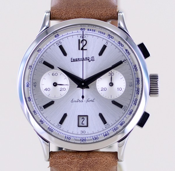 Extra-Fort Chronograph Edelstahl Silver dial Klassiker Dresswatch Date Automatic
