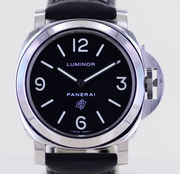 Luminor PAM000 Base Logo Steel 44mm schwarz Cal 6497 B+P