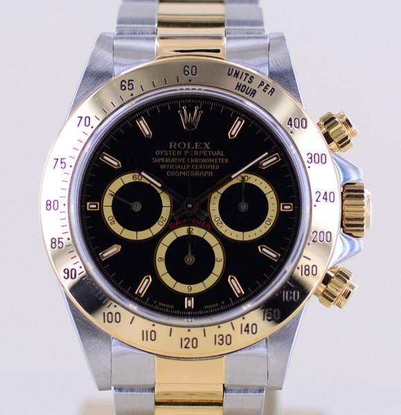 Daytona Stahl Black Tritium Invert 6 Dial Zenith Cosmograph Klassiker Chronograph N-Serie