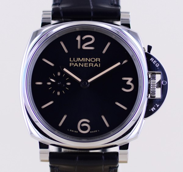 Luminor Due PAM00676 Steel small second 3-Days black 42mm Dial B+P 676