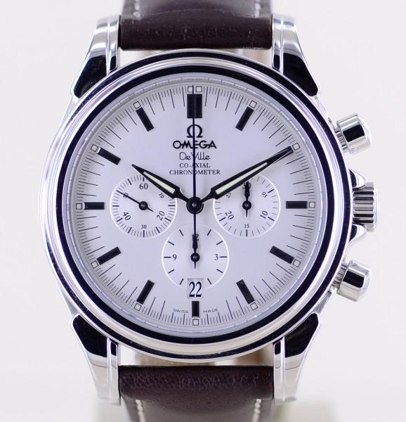 DeVille Prestige Co-Axial Chronograph Date Chronometer silver 41mm Top