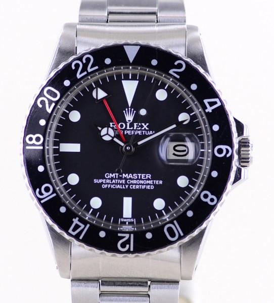GMT Master 1675 Klassiker Oyster Faltband Black 1971 Klassiker