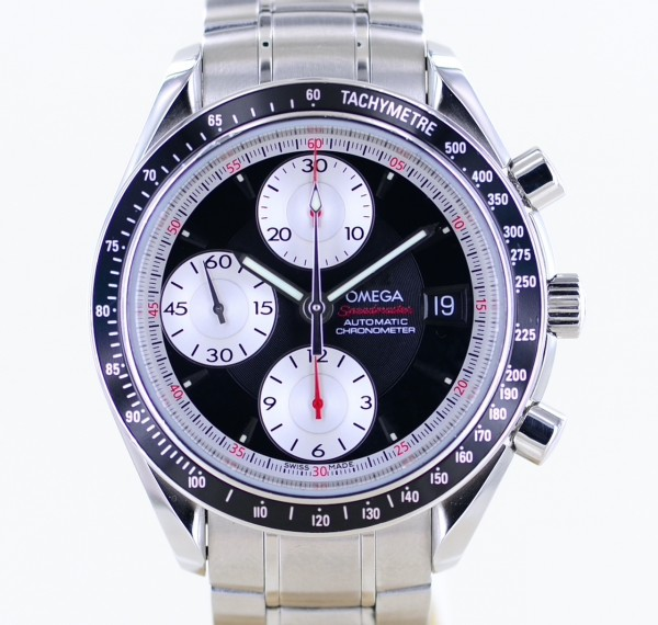 Speedmaster Date 40 mm Chronograph Automatic Black White Dial rar