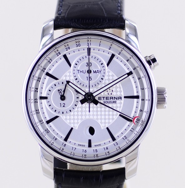 Soleure Automatic Monopusher Chronograph Moonphase Kalender 42mm Stahl