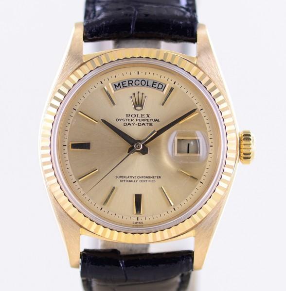 DayDate 18K Gelbgold 1803 Champagner Dial Dresswatch Klassiker 1963 top