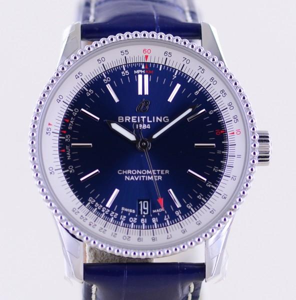 Navitimer 1 blue Date Chronometer Stahl 38mm Unisex Index Automatic B+P