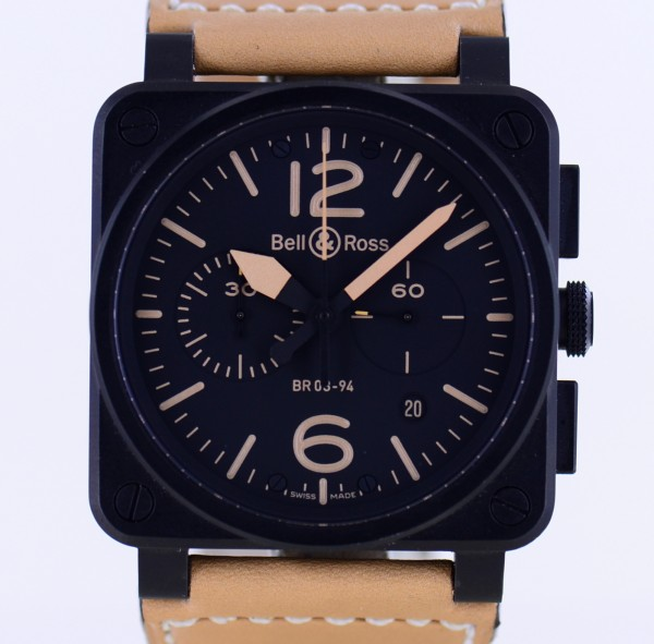Aviaton Heritage Chronograph Automatic 42mm black Dial PVD Coated B+P