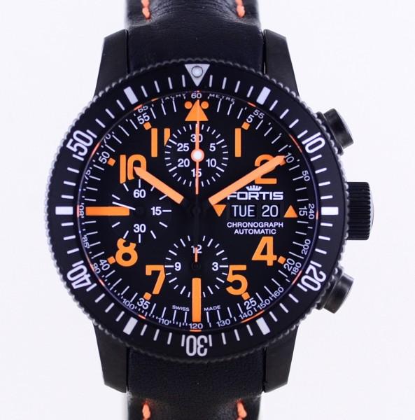 B-42 Limited Day Date Chronograph Mars Orange Automatic 7750 black Titan 2020