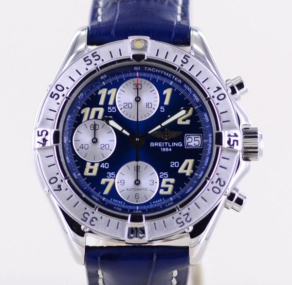 Colt Chronograph Automatic Stahl blue dial Klassiker arabic B+P Top