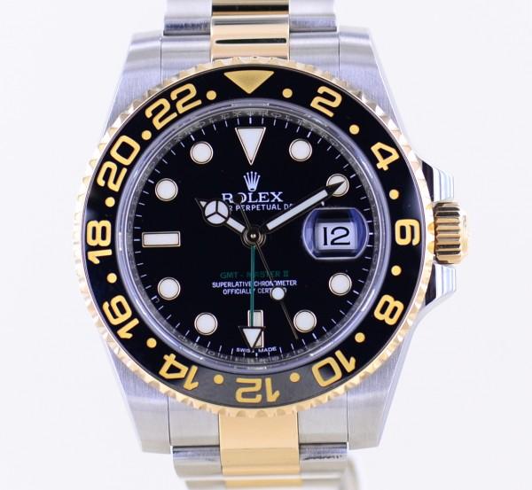 GMT Master II 116713LN black Oysterband Keramik Stahl Gold Random