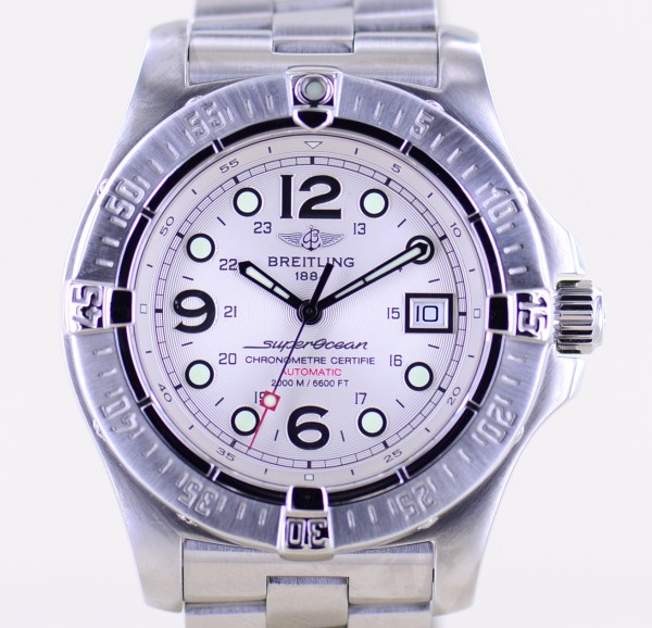 Superocean Steelfish Automatic Stahl silver Diver 44mm B+P Stahlband