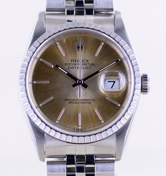 Datejust 16220 silver Supernova dial Jubiléband Stahl X-Serie 1991 Tropical Top