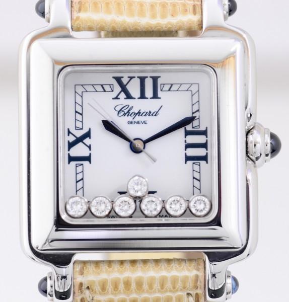 Happy Sport Flying Diamonds square Lady Quarz Edelstahl Luxus Top