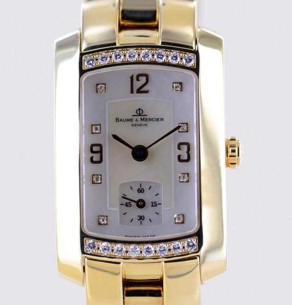 Hampton 18K Gelbgold Perlmutt MOP Diamond Dial Lady Luxusuhr B+P