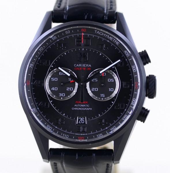 Carrera Chronograph Flyback black Calibre 36 El Primero Titan Glasboden