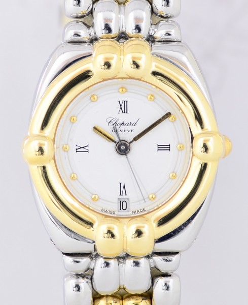Chopard Gstaad Ladies Luxus Uhr Stahl/ Gold Top Klassiker Dresswatch