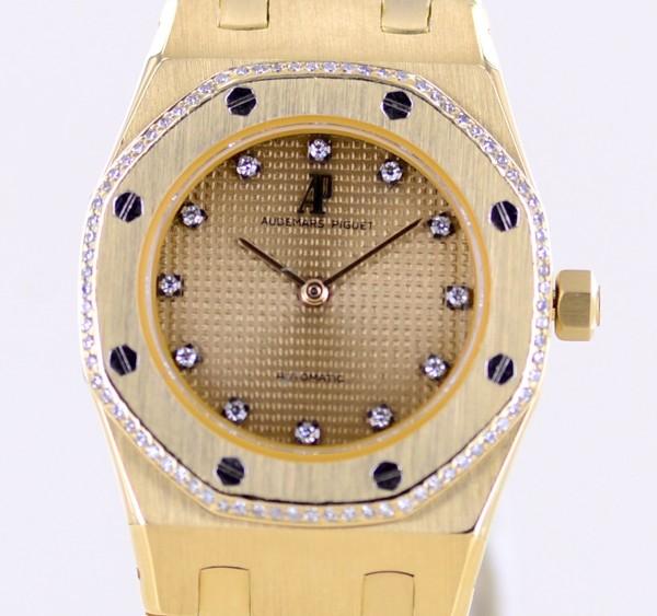 Royal Oak Automatic Lady 29mm Klassiker Clous de Paris Gold Diamond Dial rar