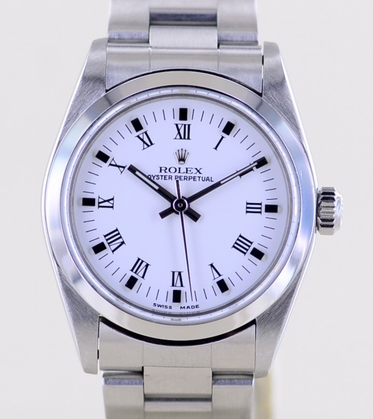 Medium Oyster Perpetual 31mm white roman dial Oysterband 31mm Lady