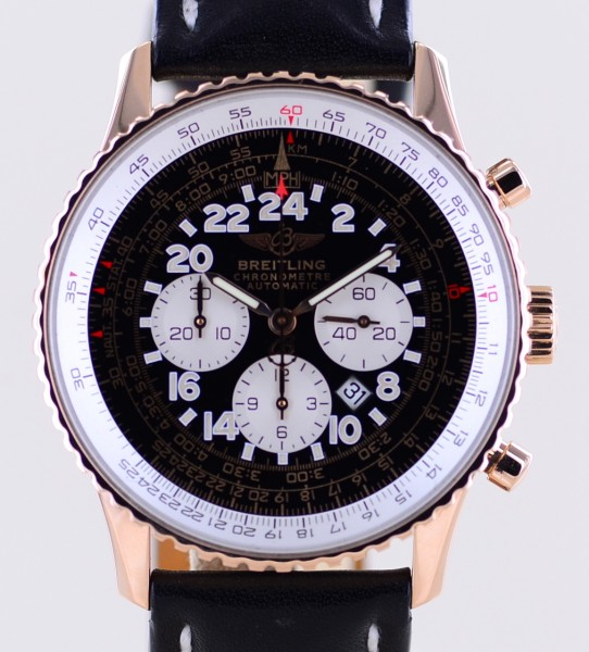 Navitimer Chronograph Limited 18K Roségold Black Dial Automatic Date B+P