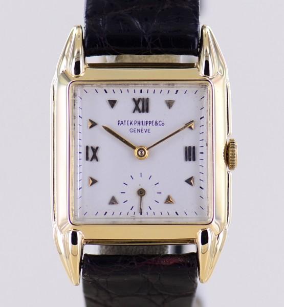 Square 18K Gelbgold roman dial very rar Dresswatch Vintage 1946 Cal 10-200