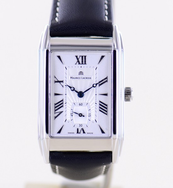 Masterpiece Petite Seconde 45 x 28mm MP7009 silver dial Glasboden Stahl Dresswatch