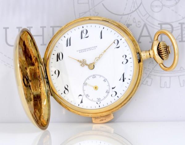 Heure Chronometre Répétition Taschenuhr 585er Gelbgold Vintage Savonette Pocket